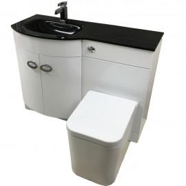 Bow Vanity Wc Unit Amp Toilet Pan Pack Left Hand Unique